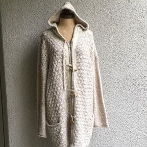 Free People Chunky Knit Hooded Sweater